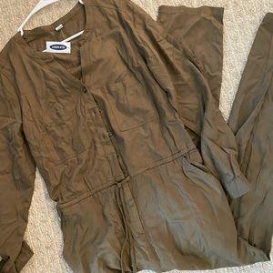 Old Navy Long Sleeve Jumpsuit, hunter green